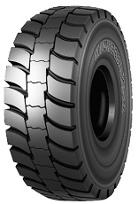 OTR Radial Earthmover E-4 tire for Haul Trucks for Use in the Most Severe Mine and Quarry Applications.